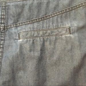 Esprit Skirts - Esprit denim inverted pleat mini skirt
